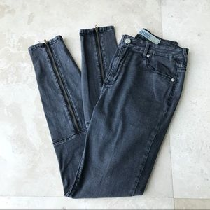 RARE Brandy Melville BM Zipper Faded pants/ Jeans